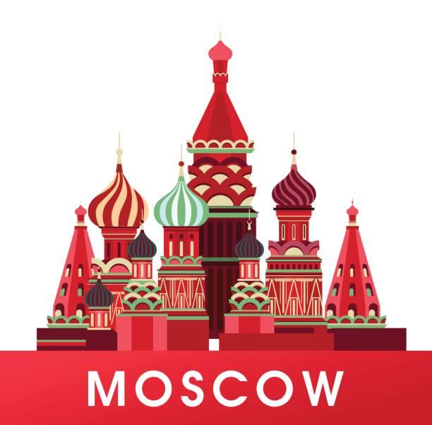 ilustraciones, imágenes clip art, dibujos animados e iconos de stock de cartel de rusia moscú - rusia