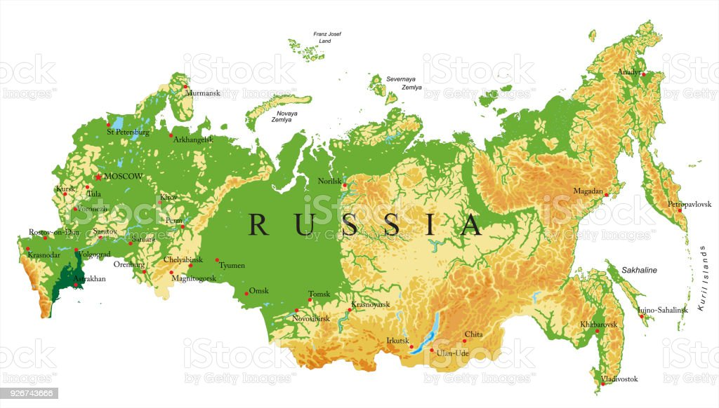 Image of: Russia Relief Map Stock Illustration Download Image Now Istock