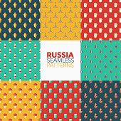 Russia Seamless Pattern Set