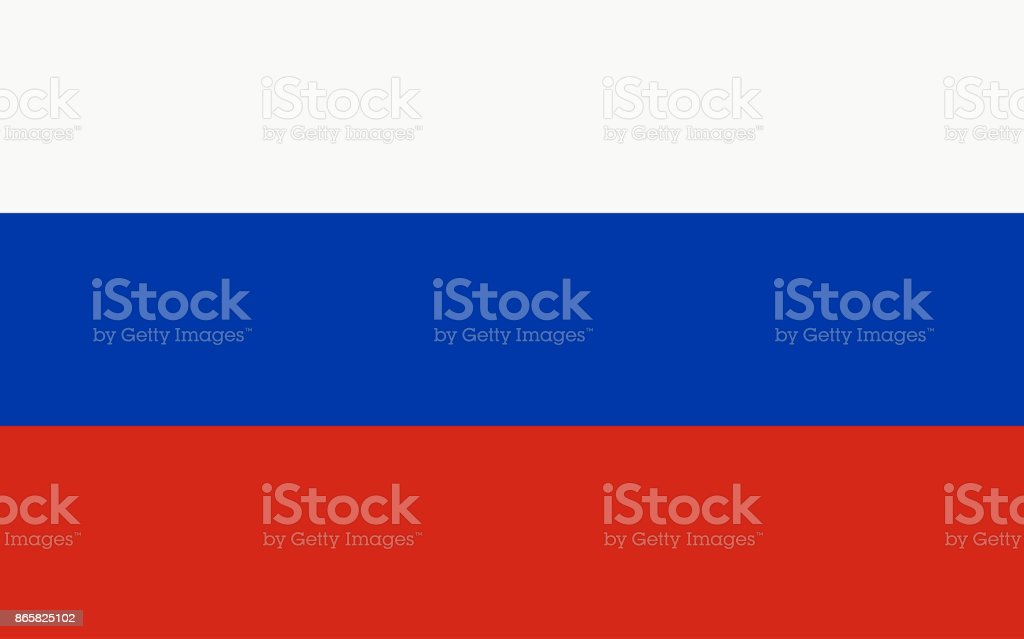 Russland-Vektor-Flagge – Vektorgrafik