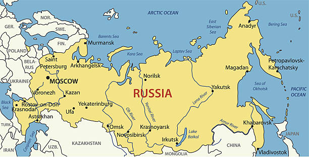Royalty Free Russia Map Clip Art Vector Images Illustrations - Kazan map