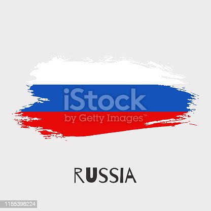 944453740 istock photo Russia watercolor vector national country flag icon 1155398224