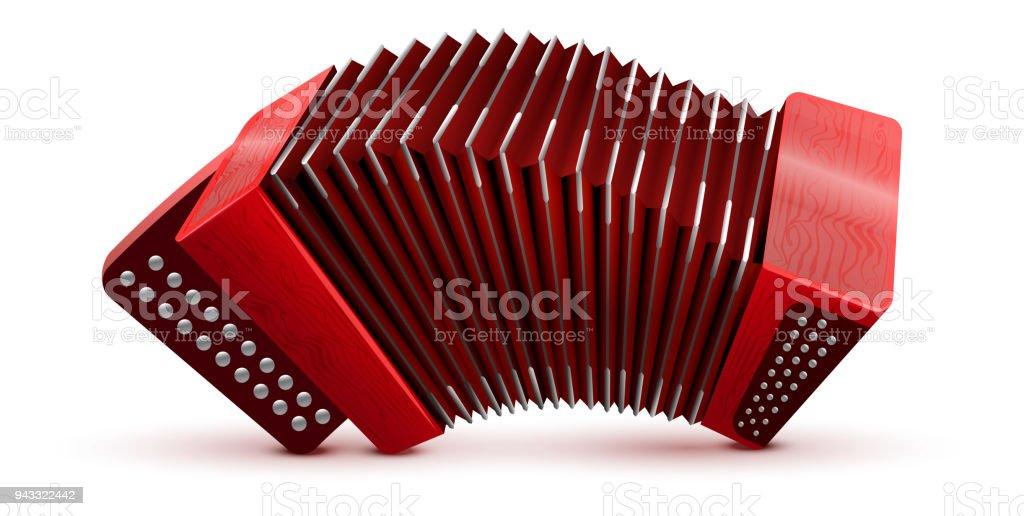 Russische und französische Akkordeon nationale Musikinstrument – Vektorgrafik
