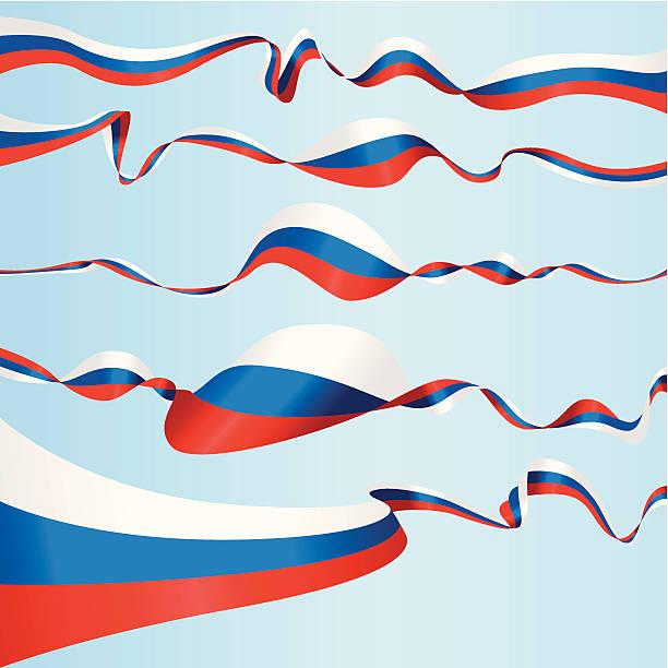 illustrations, cliparts, dessins animés et icônes de bannières russe - drapeau russe