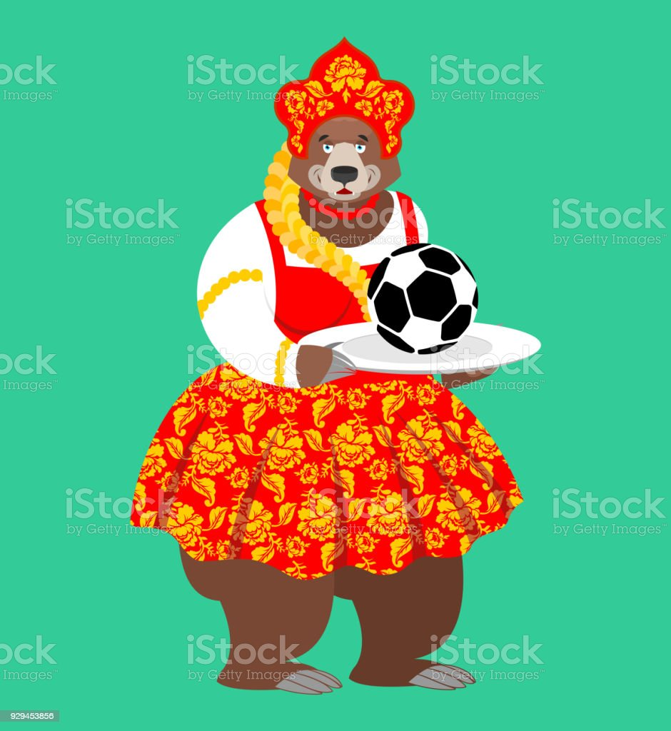 be2c7895b Russian Bear And Soccer Ball Welcome Football Championship In Russia ...