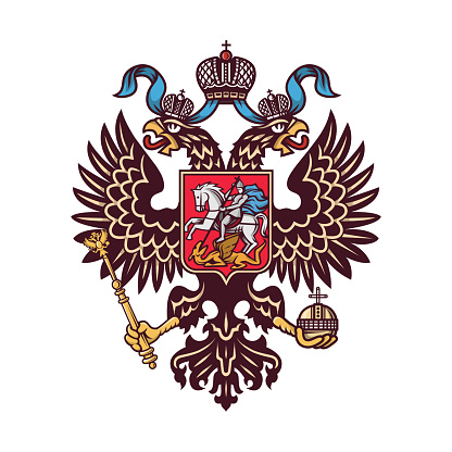Russian coat of arms (double headed eagle).