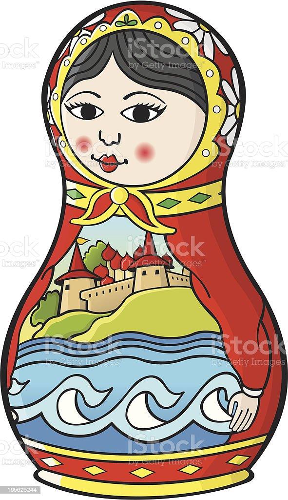 Russian doll royalty-free stock vector art