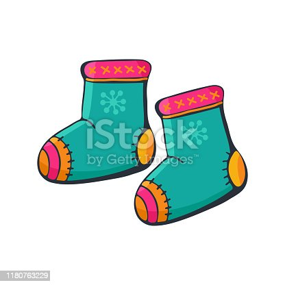 Winter ugg boots icon cartoon style
