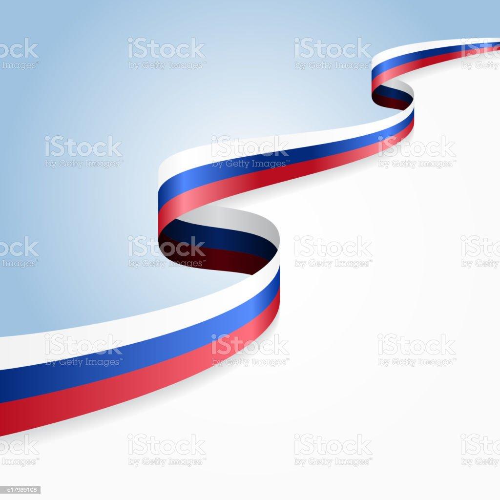 Fond de drapeau russe. illustration vectorielle - Illustration vectorielle