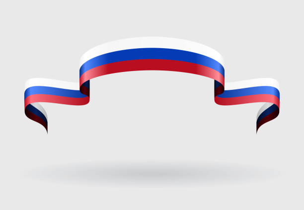 russian flag background. vector illustration. - russian flag stock illustrations, clip art, cartoons, & icons