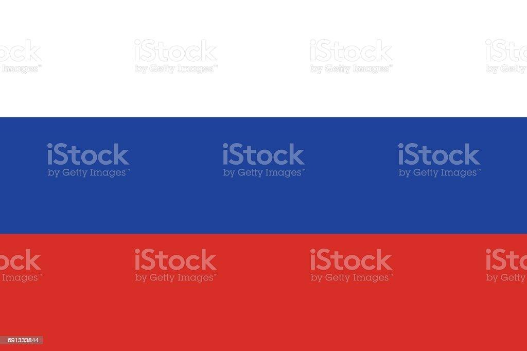 Drapeau russe, mise en plat, vector illustration - Illustration vectorielle