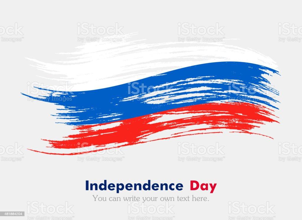 Russian flag vector art illustration