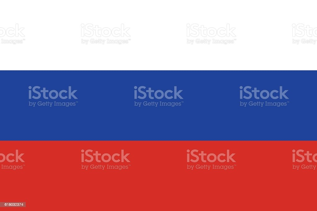 Russian Flag (Official Colours and Shape) - ilustración de arte vectorial