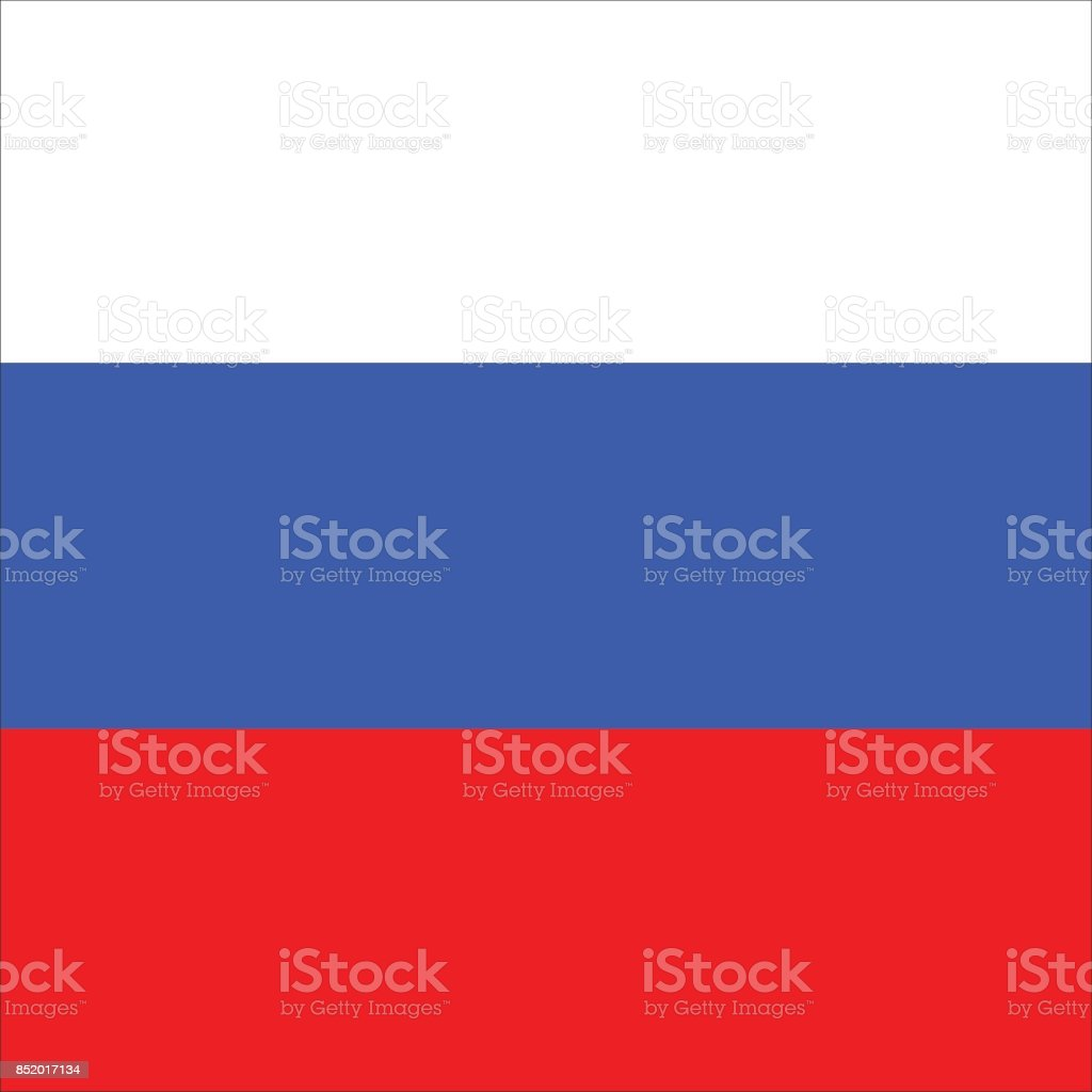 Drapeau russe  - Illustration vectorielle
