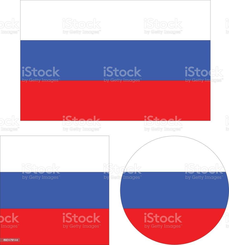 Russian flags vector art illustration