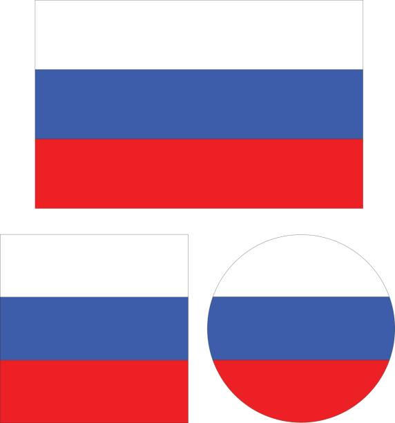 russian flags - russian flag stock illustrations, clip art, cartoons, & icons