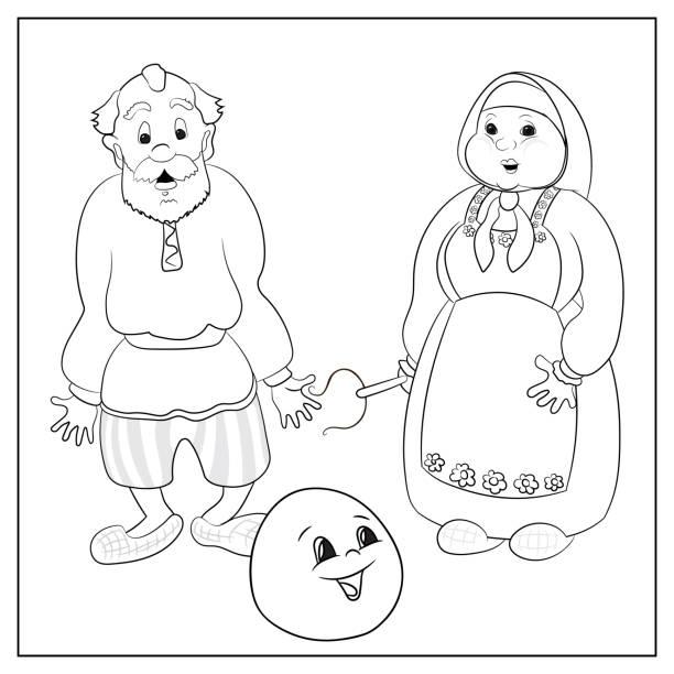 Vectores de Abuelos Para Colorear y Illustraciones Libre de Derechos ...
