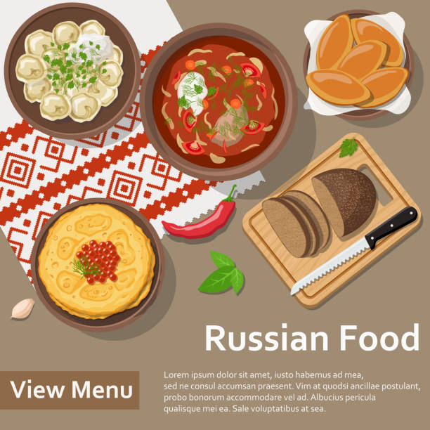 Royalty free sour cream clip art vector images for Art of russian cuisine