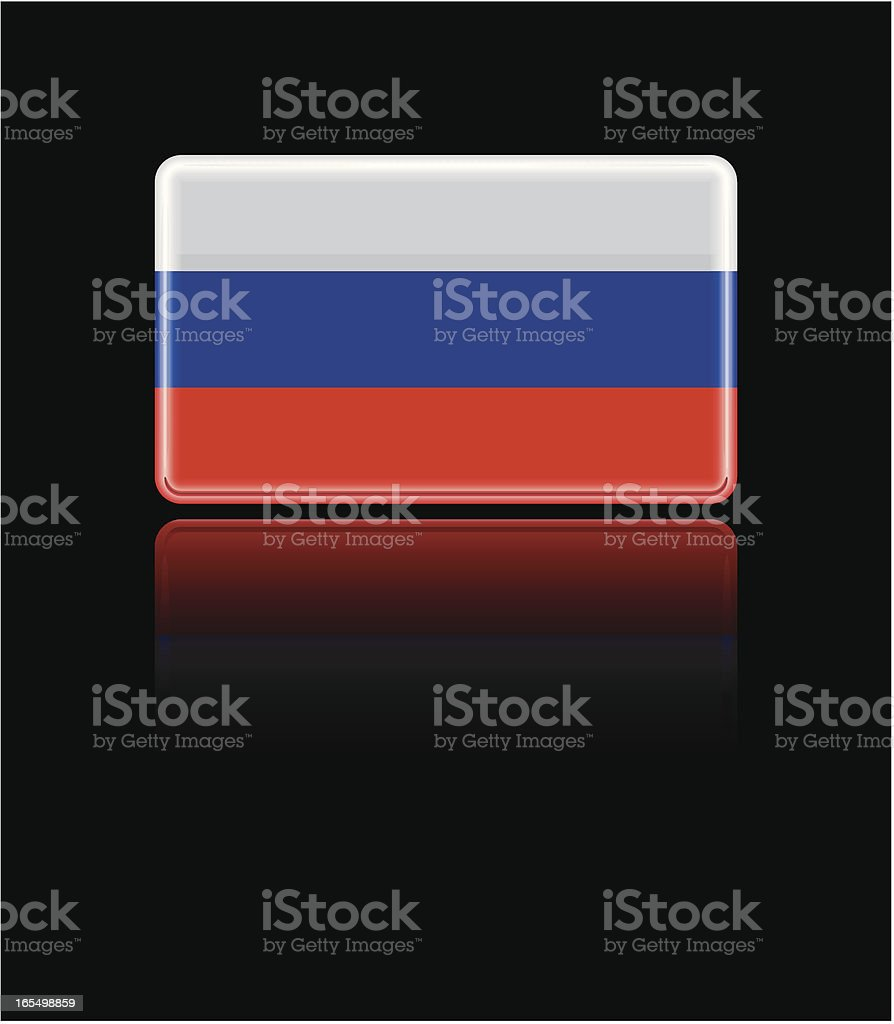 Russian Glass Flag royalty-free stock vector art