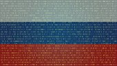 Russian Hackers Abstract Technology Background. Computer Code.