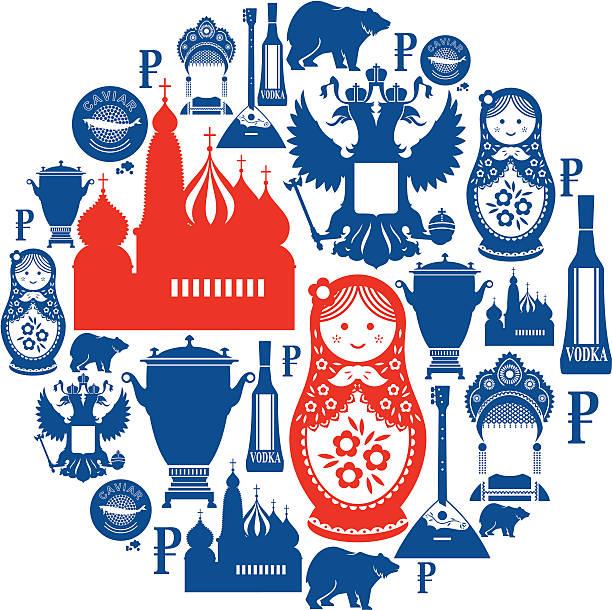 ilustraciones, imágenes clip art, dibujos animados e iconos de stock de icono ruso de montaje - rusia