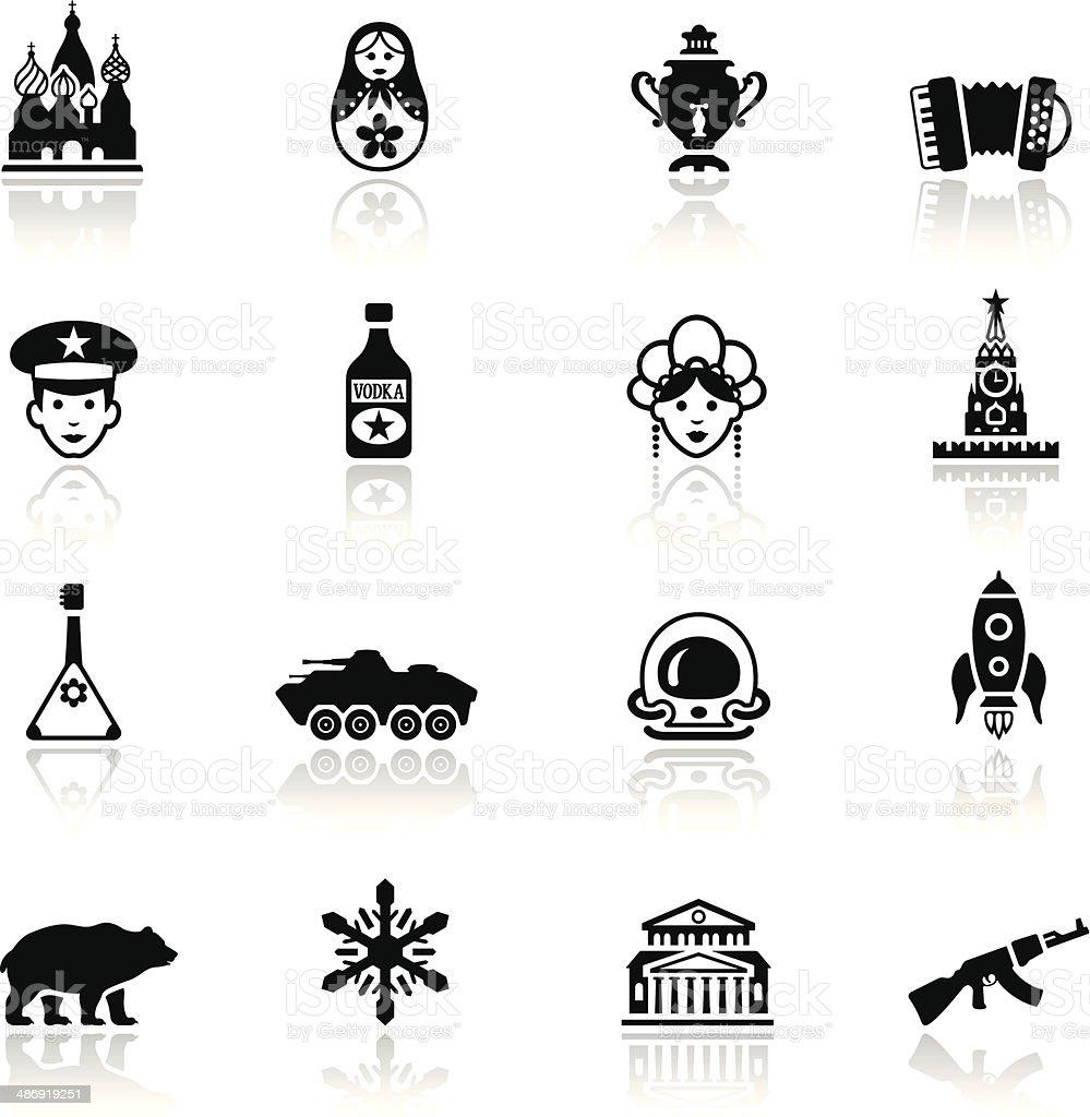 Russian Icon Set vector art illustration
