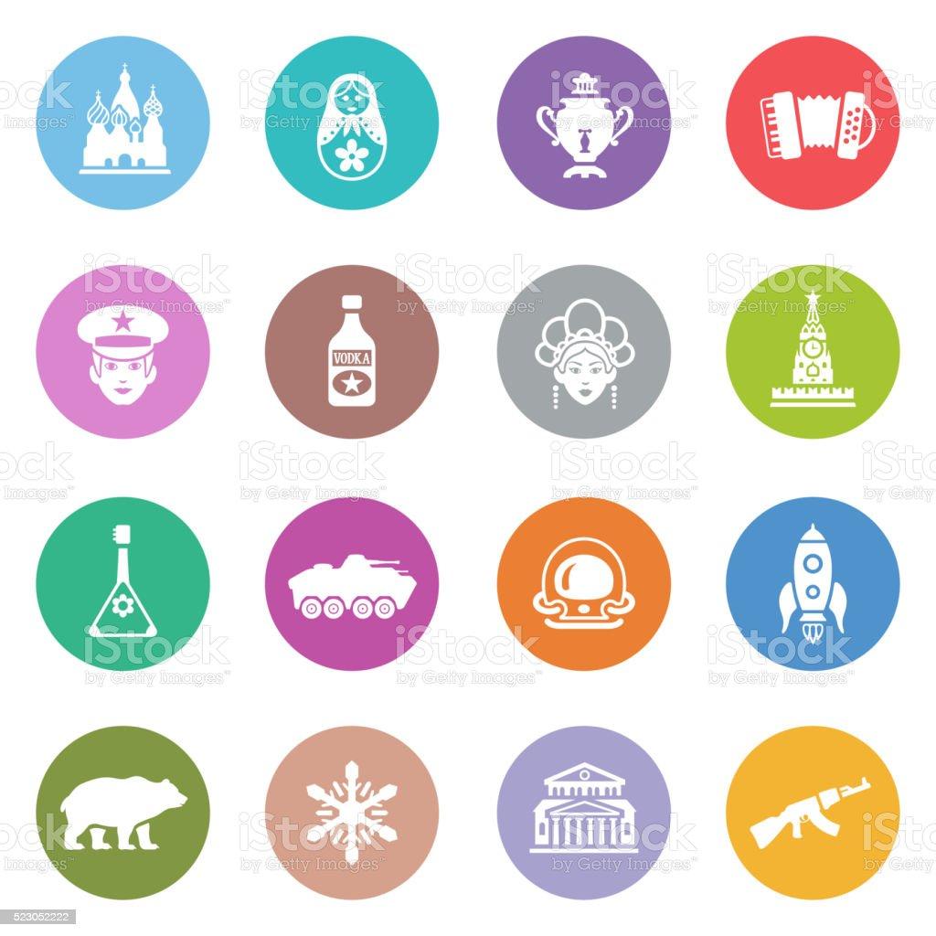 Russische Icon-Set – Vektorgrafik