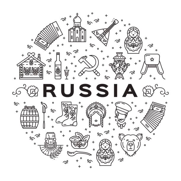 Best Russia Illustrations, Royalty-Free Vector Graphics