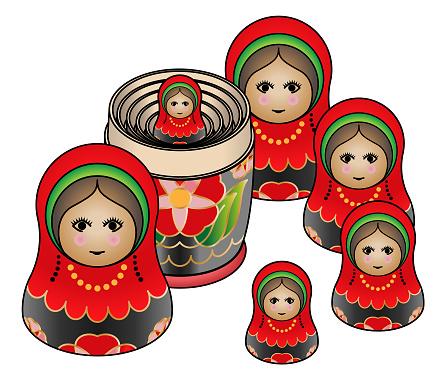 Russian Matryoshka / Babushka Dolls