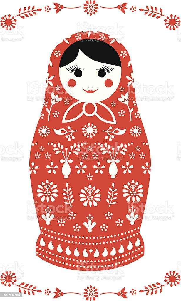 Russian Matryoshka  Doll royalty-free stock vector art