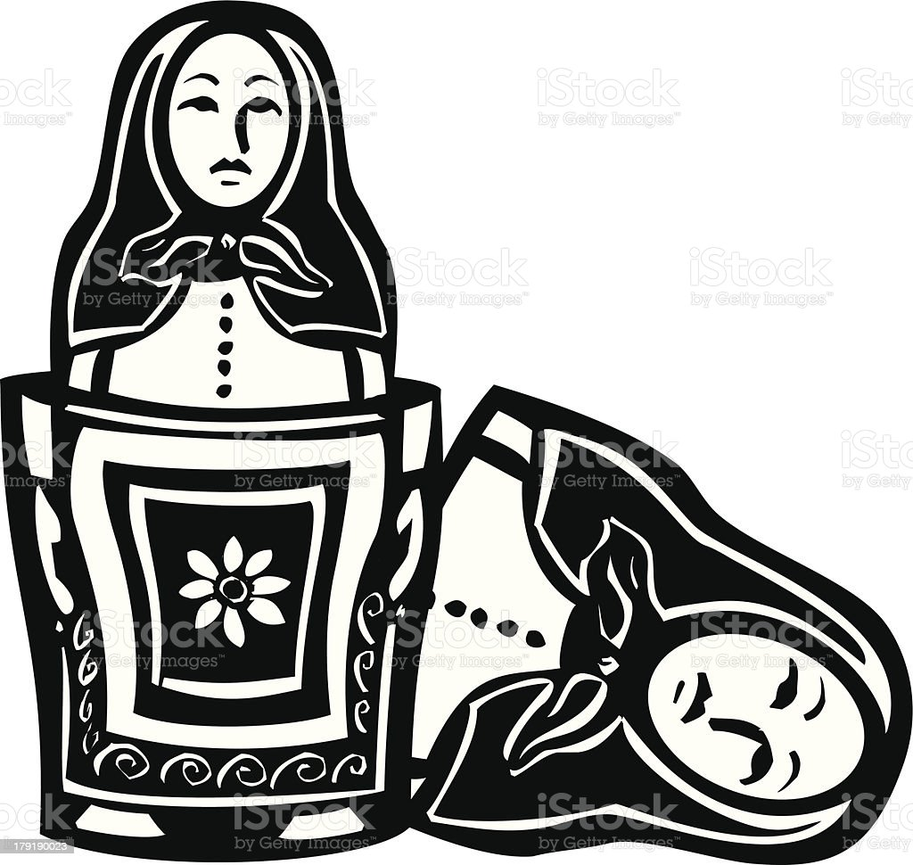 Russian Nested Doll royalty-free russian nested doll stock vector art & more images of adult