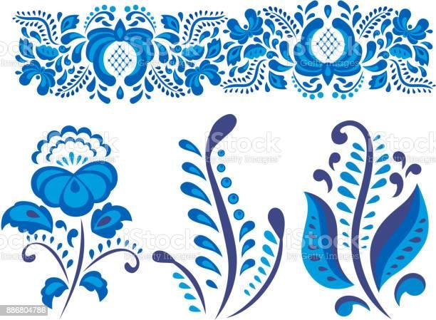 Russian ornaments art gzhel style painted with blue on white flower vector id886804786?b=1&k=6&m=886804786&s=612x612&h=15mebn9uqdgitvedls2oryvree xvflwadnpfmiwc84=