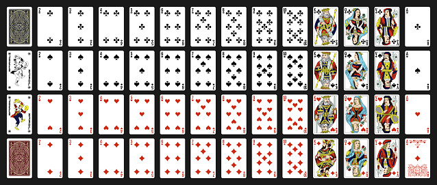 52 Russian playing cards with jokers