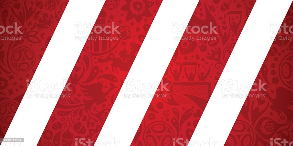 Russian soccer / football inspired vector illustration. vector art illustration