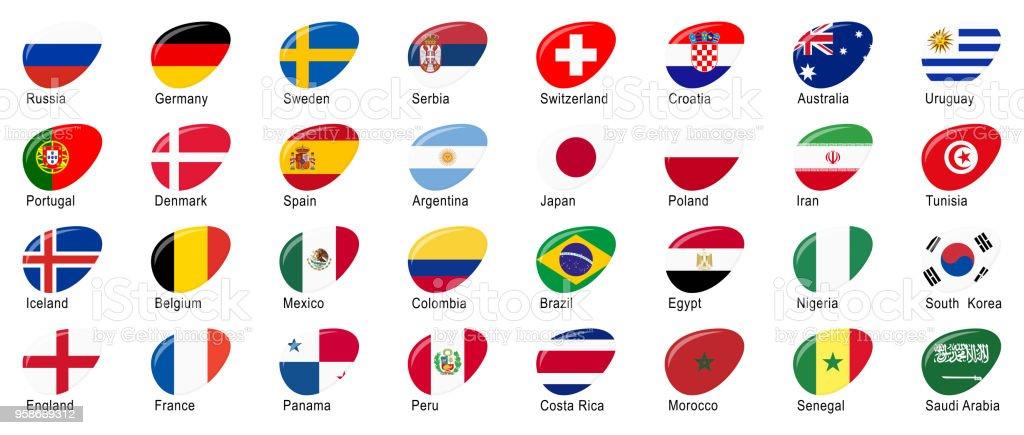 Russischer Fußball Spiel Nationalmannschaften – Vektorgrafik
