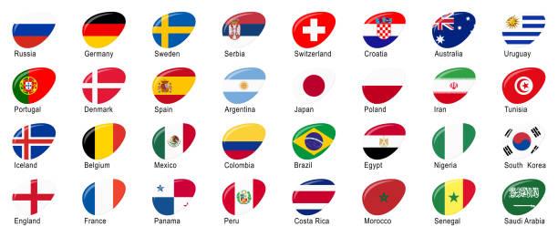 ロシアのサッカー ゲームの全国代表チーム - ロシアの国旗点のイラスト素材/クリップアート素材/マンガ素材/アイコン素材