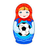 Russian toy - nesting doll,