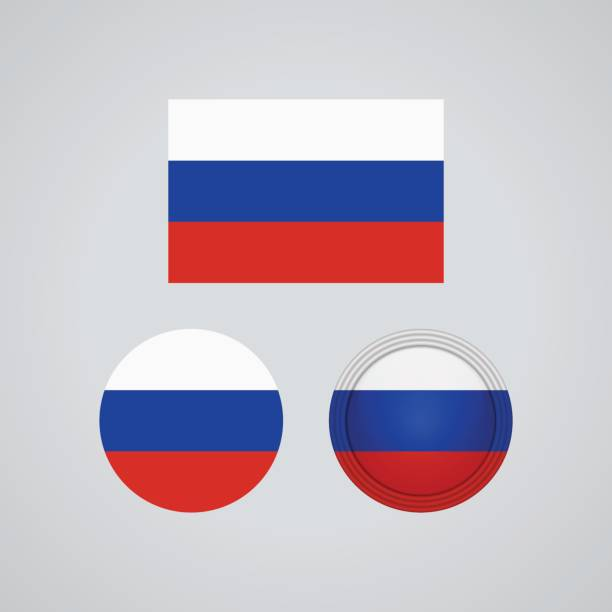 ilustraciones, imágenes clip art, dibujos animados e iconos de stock de trio ruso banderas, ilustración vectorial - bandera rusa