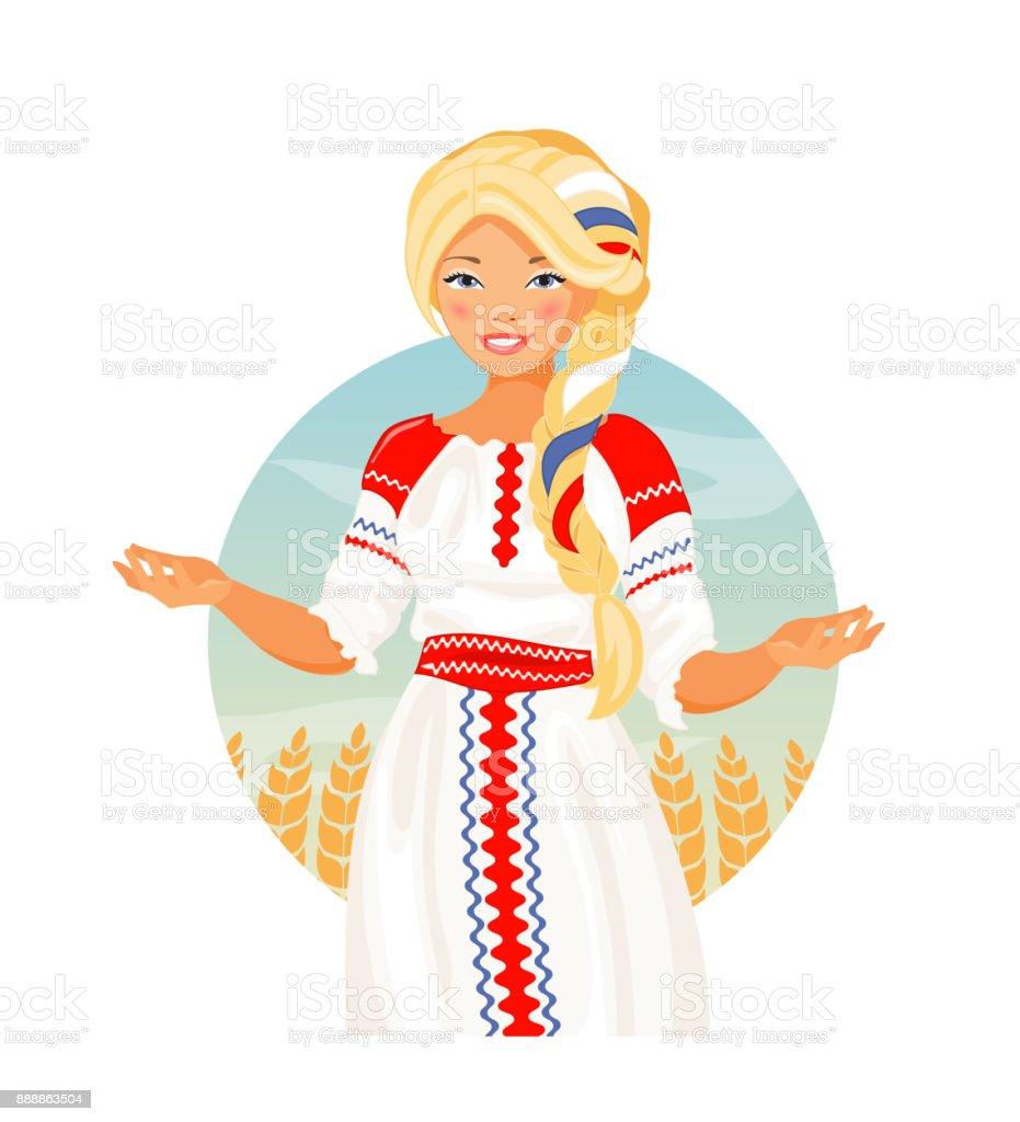 ロシア人女性のベクトル 1人のベクターアート素材や画像を多数ご用意