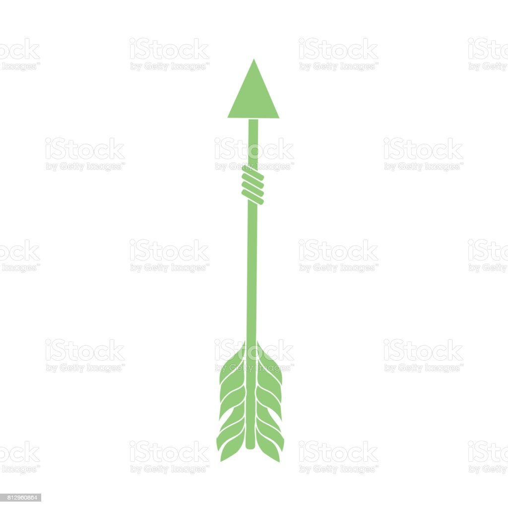 Rustic Arrow With Ornamental Design Royalty Free Stock Vector Art