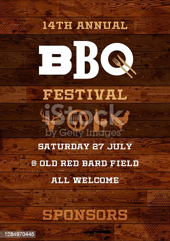 istock Rustic BBQ Festival poster 1284970445