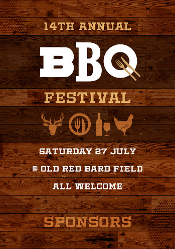 Rustic BBQ Festival poster