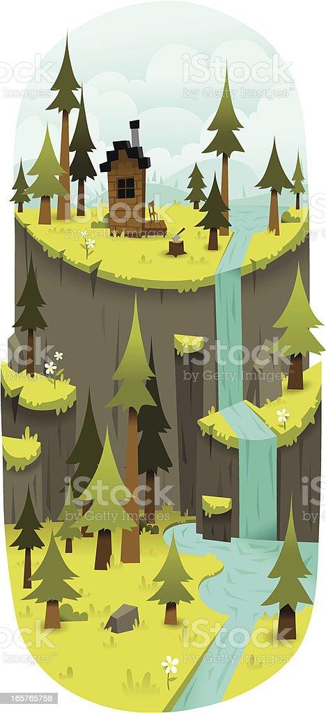 Rustic Cliffs royalty-free stock vector art
