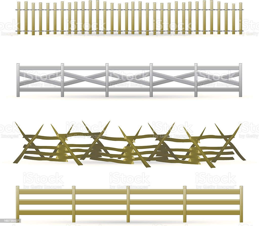 Rail Fence Clip Art, Vector Images & Illustrations - iStock