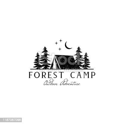 Rustic Forest Camp emblem Designs, Outdoor emblem, Adventure emblem template