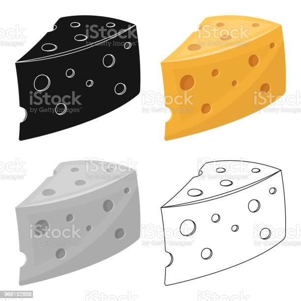 Rustikaler Hausgemachter Käse Hausgemachte Hausgemachten Milchprodukt Hof Und Garten Einzelnes Symbol Im Cartoon Stil Vektor Symbol Lager Web Abbildung Stock Vektor Art und mehr Bilder von Comic - Kunstwerk