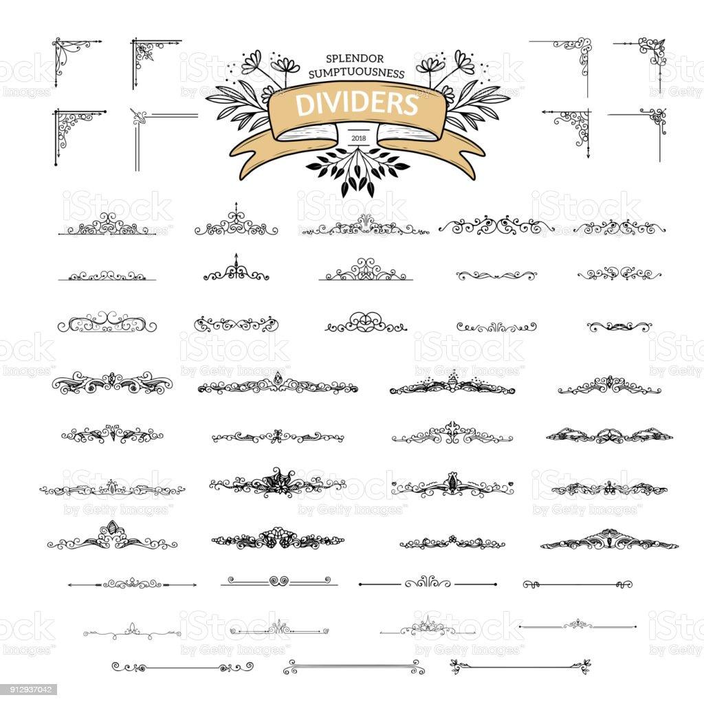 Éléments de la nature rustique - Illustration vectorielle