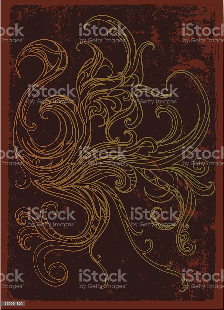 rustic phoenix abstract royalty-free stock vector art