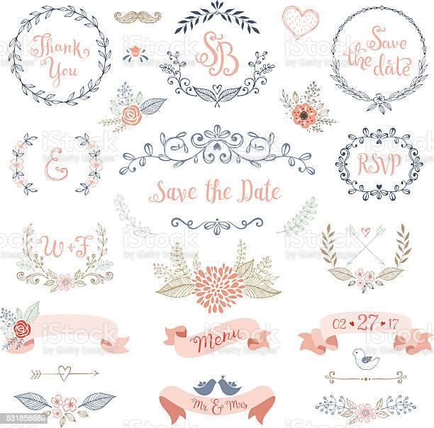 Rustic wedding design set vector id531858686?b=1&k=6&m=531858686&s=612x612&h=qevvkpof6kilojmqd3chid pjo56grqon1w1qyshc2k=