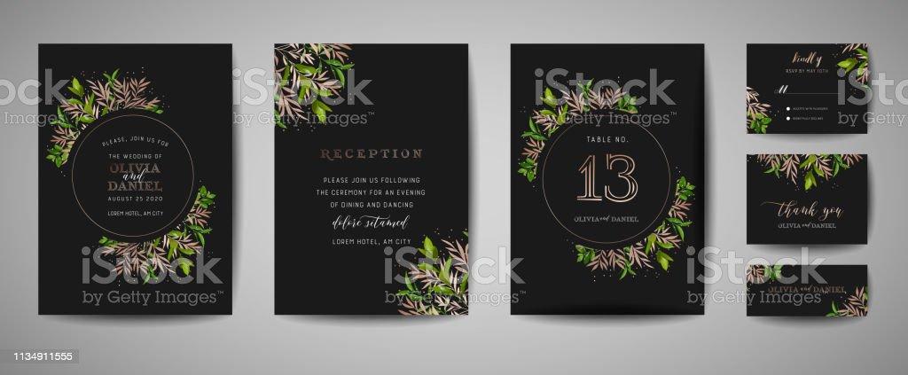 Rustical Floral Vintage Wedding Save The Date Invitation